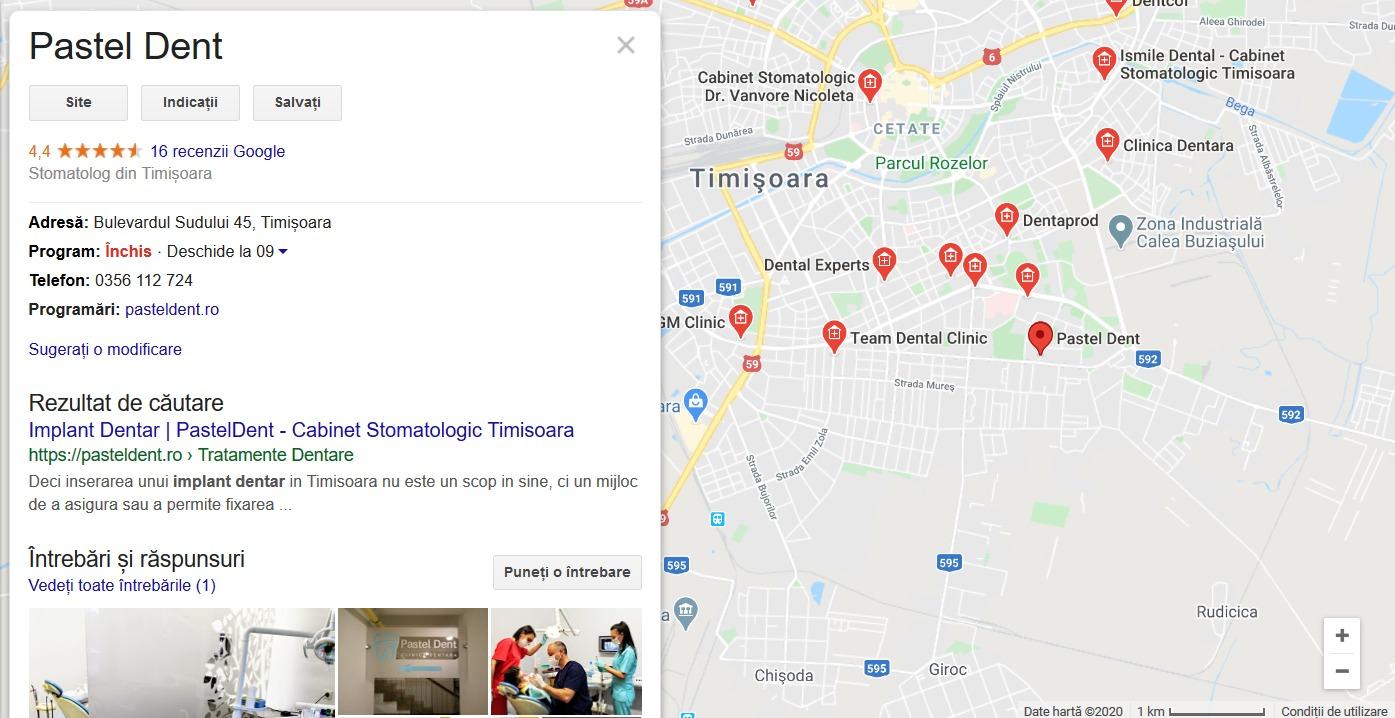 Google Maps pentru firme